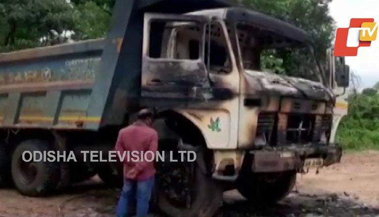 Maoists Set Ablaze Road Construction Vehicles In Odisha